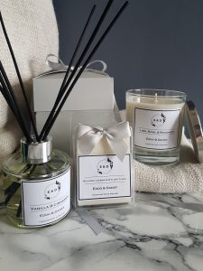 Full-Eddo-&-Dandy-Collection-with-scented-soy-candle-wax-melts-and-reed-diffusers-with-grey-gift-box-from-skerries